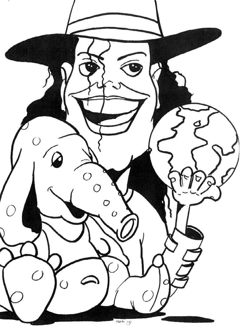 Coloring Pages Michael Jackson - Morning Kids | 1081x799